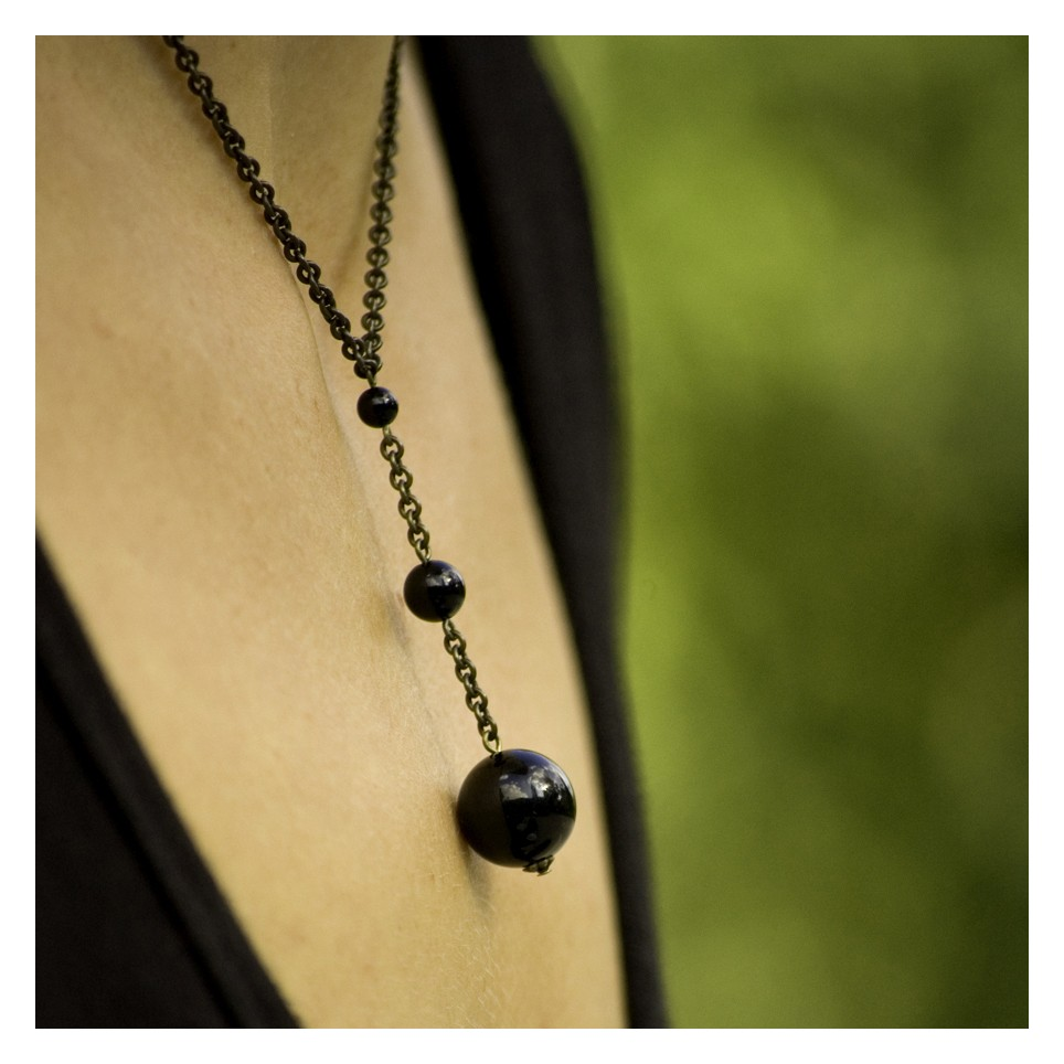 Fibonacci Necklace - Onyx