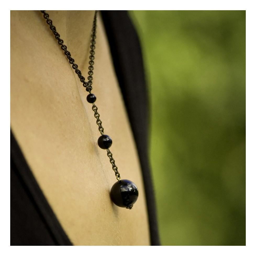 Fibonacci Necklace - Onyx