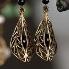 Antique brass earrings Falblala