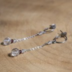 Boucles d'oreilles en titane pur et pierres fines - hypoallergéniques