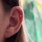 Bague d'oreille en Titane pur, perle de culture blanche